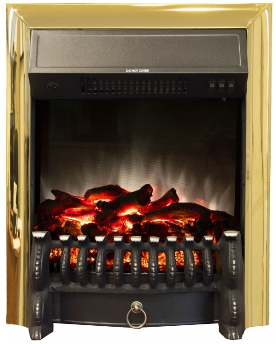 Очаг Real Flame Fobos Lux Brass
